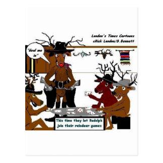 Regalos y camisetas divertidos del navidad de los tarjetas postales