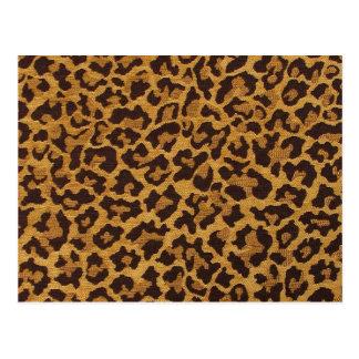 Regalos y coleccionables del estampado leopardo postal