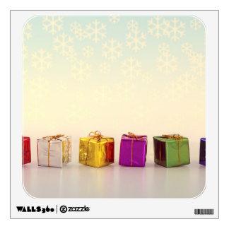 Regalos y copos de nieve del navidad