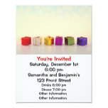 Regalos y copos de nieve del navidad invitación 10,8 x 13,9 cm