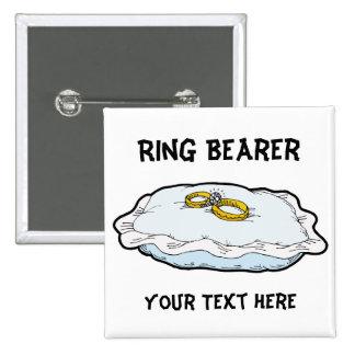 Regalos y favores del portador de anillo pin cuadrado