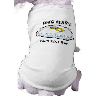 Regalos y favores del portador de anillo playera sin mangas para perro
