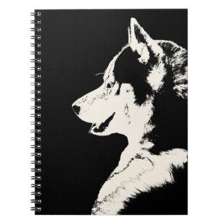 Regalos y libros fornidos del husky siberiano del