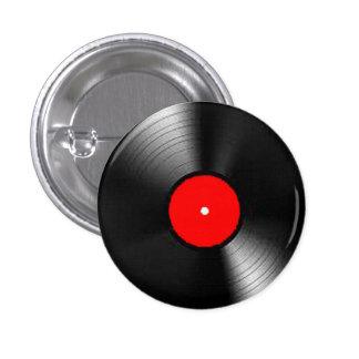 """Regalos y productos del """"disco de vinilo"""" pin redondo de 1 pulgada"""