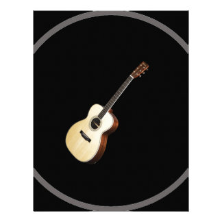 """Regalos y productos del diseño """"de la guitarra plantilla de membrete"""
