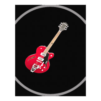 """Regalos y productos del diseño de la """"guitarra membretes personalizados"""