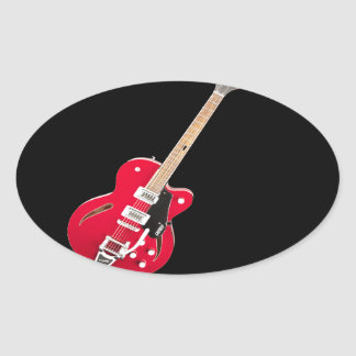 """Regalos y productos del diseño de la """"guitarra pegatina ovalada"""