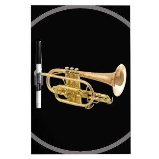 """Regalos y productos del diseño de la """"trompeta"""" tableros blancos"""