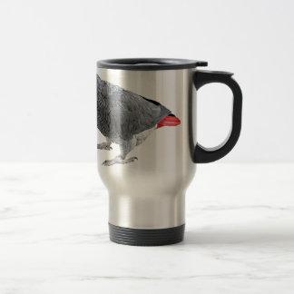 """Regalos y productos del diseño del """"gris africano"""" taza de viaje"""