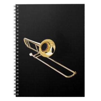 """Regalos y productos del diseño del """"Trombone"""" Libretas"""