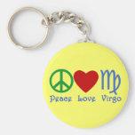 Regalos y productos del virgo del amor de la paz llaveros personalizados