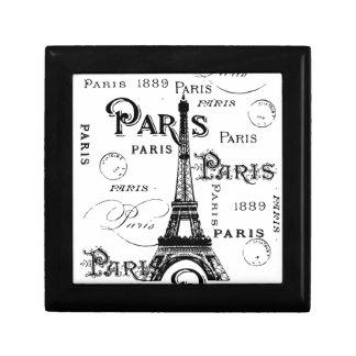 Regalos y recuerdos de París Francia Joyero Cuadrado Pequeño