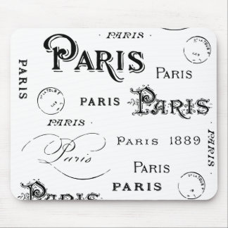Regalos y recuerdos de París Francia Mouse Pads