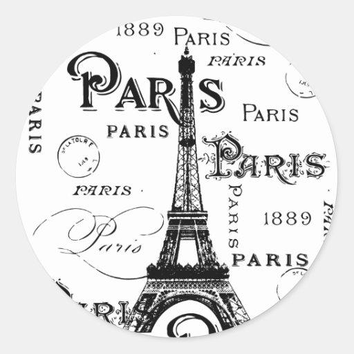 Regalos y recuerdos de París Francia Pegatina Redonda