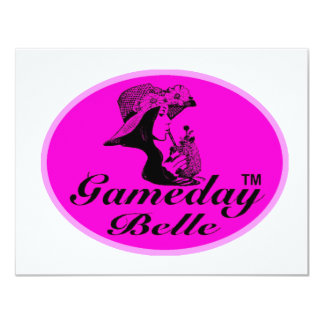 """Regalos y ropa de la belleza de Gameday Invitación 4.25"""" X 5.5"""""""