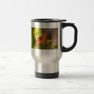 Regalos y ropa de la mariposa del golfo del Fritil Tazas De Café