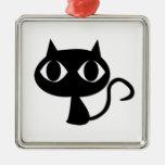 Regalos y ropa del gato negro adornos