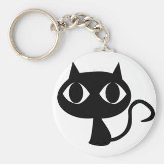 Regalos y ropa del gato negro llavero redondo tipo pin