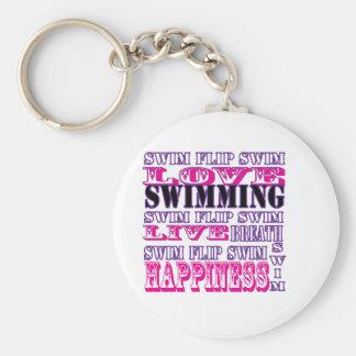 Regalos y ropa lindos de la nadada para los chicas llaveros personalizados
