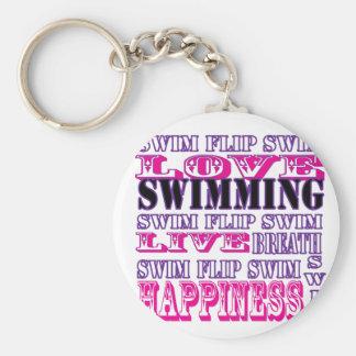 Regalos y ropa lindos de la nadada para los chicas llavero personalizado