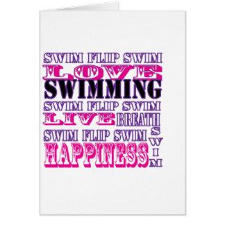 Regalos y ropa lindos de la nadada para los chicas tarjetón