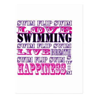 Regalos y ropa lindos de la nadada para los chicas postales