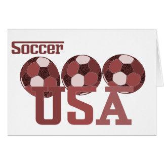 Regalos y saludos de los E E U U del fútbol Tarjetón