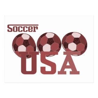 Regalos y saludos de los E E U U del fútbol Tarjetas Postales
