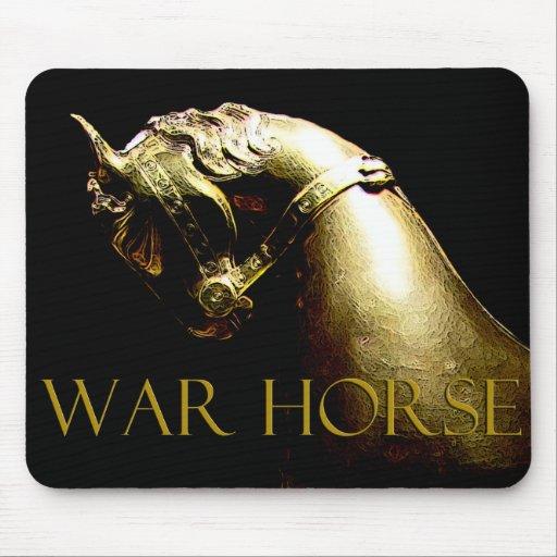 Regalos y saludos del caballo de guerra tapete de ratón