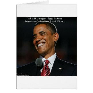 Regalos y tarjetas de la cita de Barack Obama y de