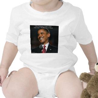 Regalos y tarjetas de la cita de Barack Obama y de Traje De Bebé