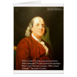Regalos y tarjetas de la cita de Ben Franklin (cuá
