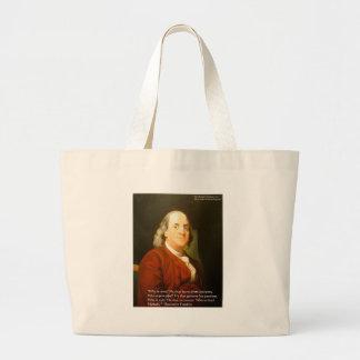 Regalos y tarjetas de la cita de Ben Franklin (cuá Bolsas