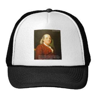 Regalos y tarjetas de la cita de Ben Franklin (cuá Gorro