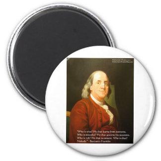 Regalos y tarjetas de la cita de Ben Franklin (cuá Iman Para Frigorífico