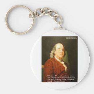 Regalos y tarjetas de la cita de Ben Franklin (cuá Llaveros