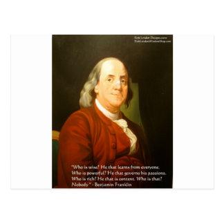 Regalos y tarjetas de la cita de Ben Franklin (cuá Postales
