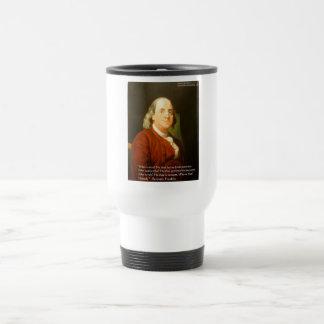 Regalos y tarjetas de la cita de Ben Franklin (cuá Taza De Café