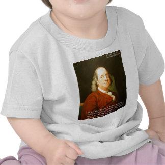 Regalos y tarjetas de la cita de Ben Franklin Camisetas