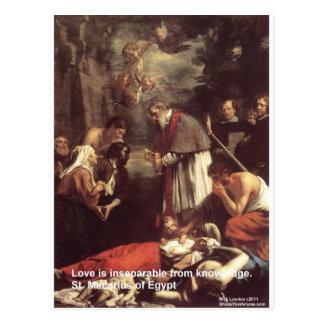 Regalos y tarjetas de la cita del amor/del conocim postal