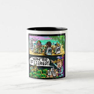 Regalos y tarjetas divertidos de los detectives de taza de café
