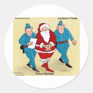 Regalos y tarjetas divertidos de Santa del navidad Etiqueta