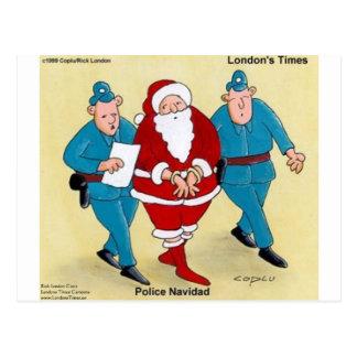 Regalos y tarjetas divertidos de Santa del navidad Tarjeta Postal