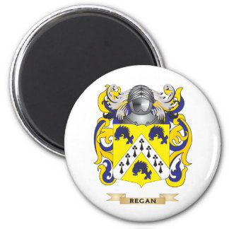 Regan Coat of Arms (Family Crest) 2 Inch Round Magnet