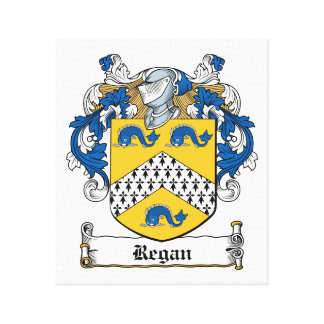 Regan Family Crest Canvas Print