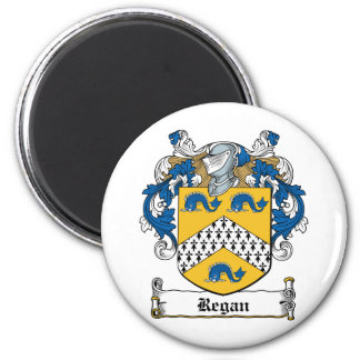 Regan Family Crest 2 Inch Round Magnet