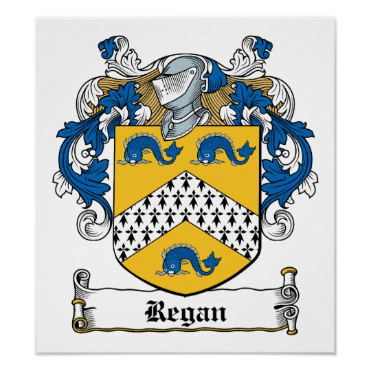 Regan Family Crest Poster