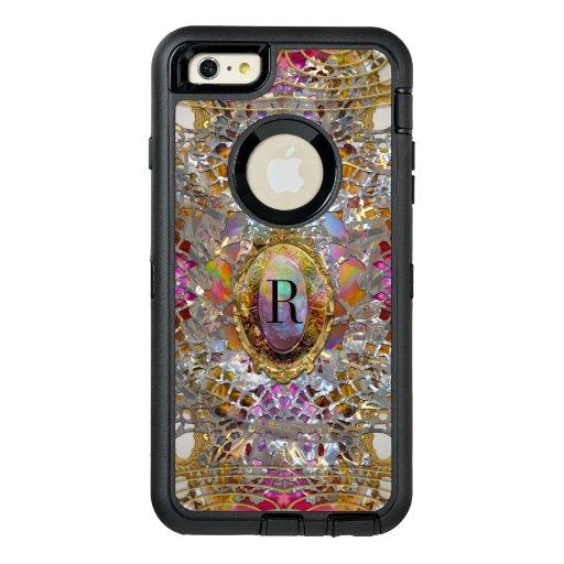 Regardez Cool kaléidoscope 22 Protective Monogram OtterBox Defender iPhone Case