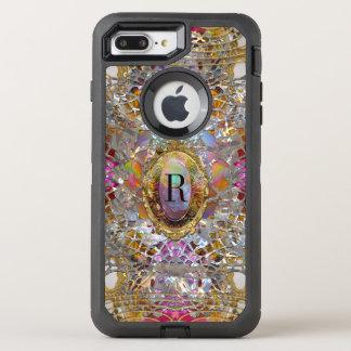 Regardez Cool kaléidoscope  7 Protective Monogram OtterBox Defender iPhone 8 Plus/7 Plus Case