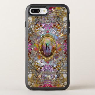 Regardez Cool kaléidoscope Protective Monogram OtterBox Symmetry iPhone 7 Plus Case